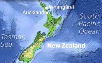 ニュージーランドの地震情報の画像