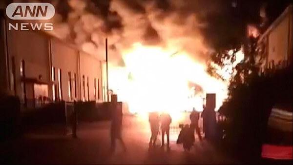 天津市の火災ニュース画像
