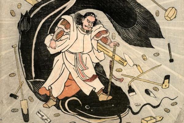 武甕槌大神(たけみかづちのおおかみ)=タケミカヅチ神のイラスト