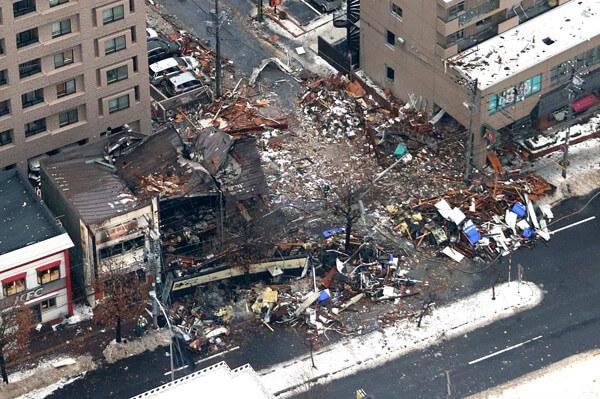 札幌市の爆発事故の写真