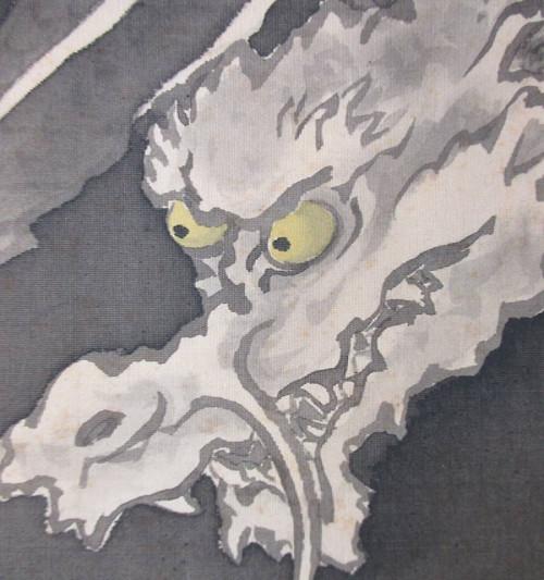 「龍」の水墨画