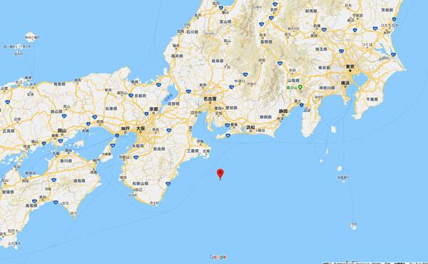 地震の震源位置