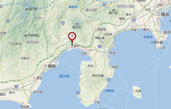 駿河湾エリアの地図