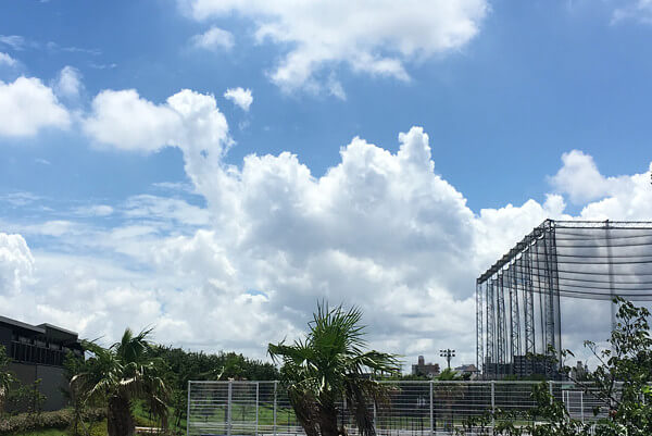 ラクダのような雲の写真