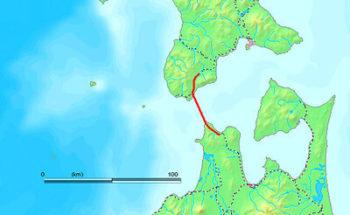 青函トンネルの地図