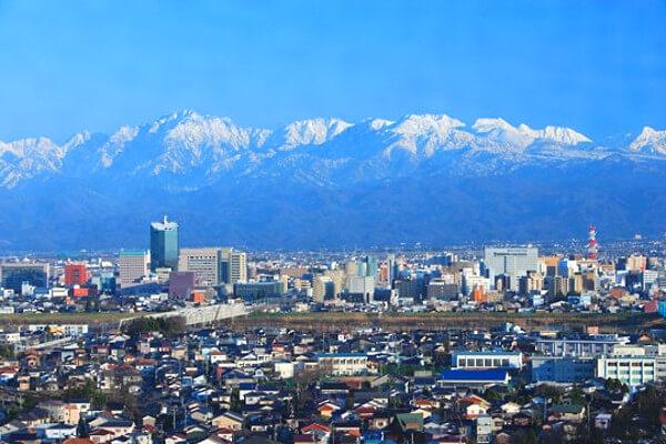富山市と立山の写真