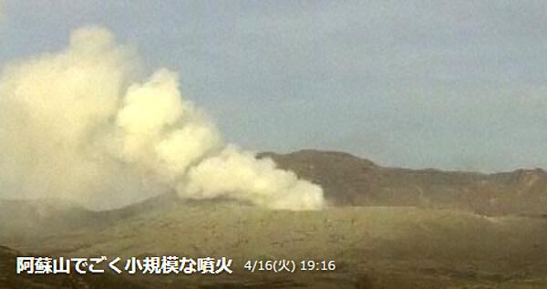 阿蘇山噴火の写真