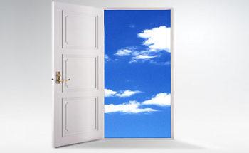天国のドアのイラスト
