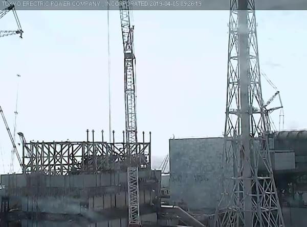 1号機側のカメラの映像