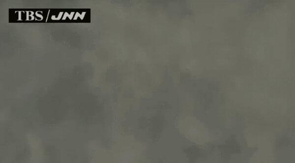 大量の濃い水蒸気の映像