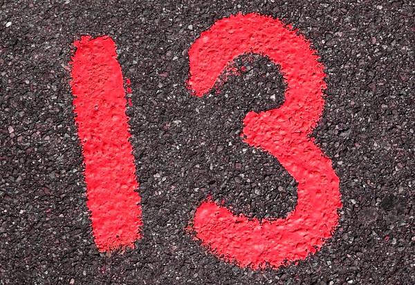 数字13の画像