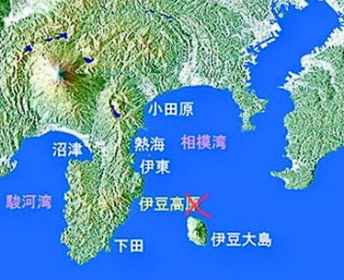 相模湾周辺の地図