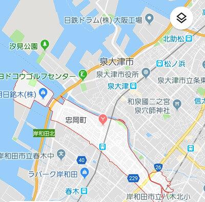 泉北の地図