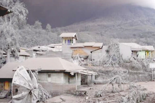 火山灰の写真