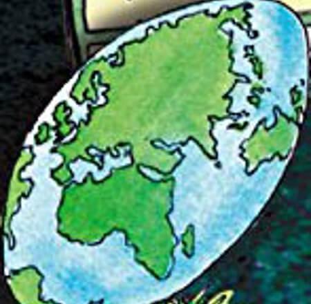 「エコノミスト」の表紙(地球儀)