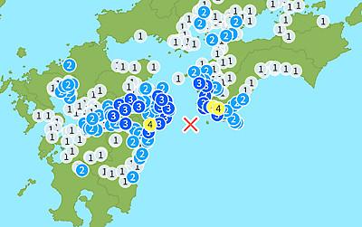 【前兆現象】南海トラフ巨大地震が近づいている可能性~日向灘の新たなエリアで地震が発生~(5月11日)[No.0027]