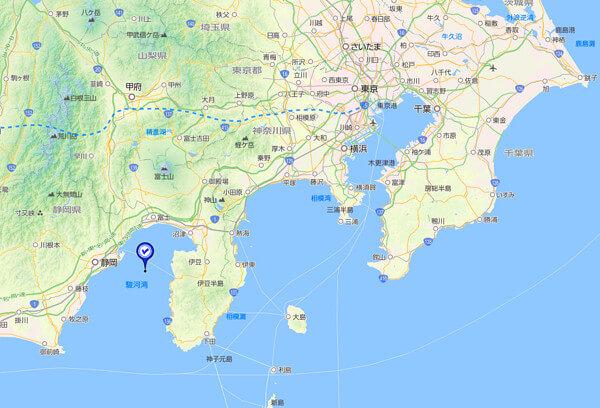 東海~関東の地図