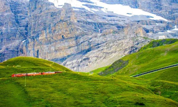 登山鉄道の写真