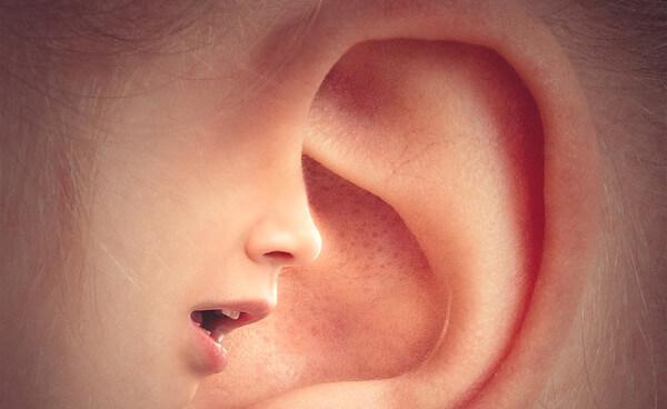 耳元のイラスト