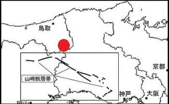山崎断層帯の地図