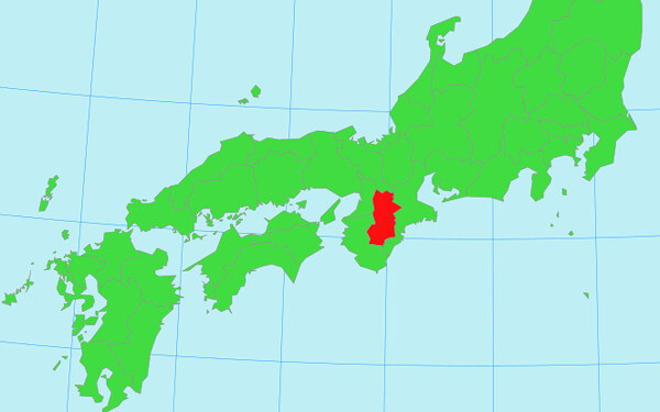 西日本の地図
