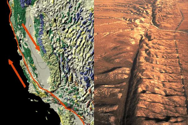 サンアンドレアス断層の写真