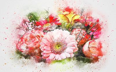 花束の絵画