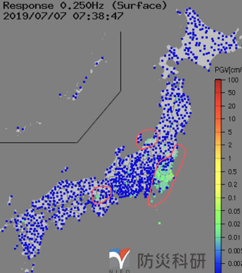 強震モニタの画像
