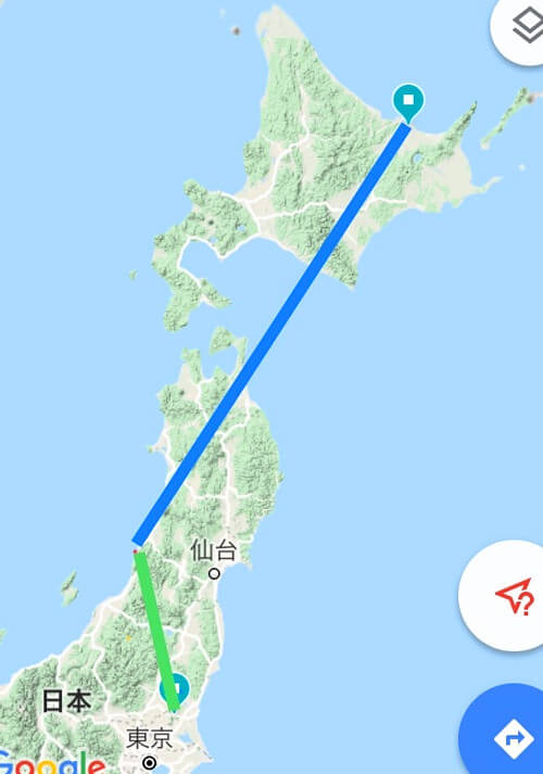 震源地と地磁気観測地点の距離
