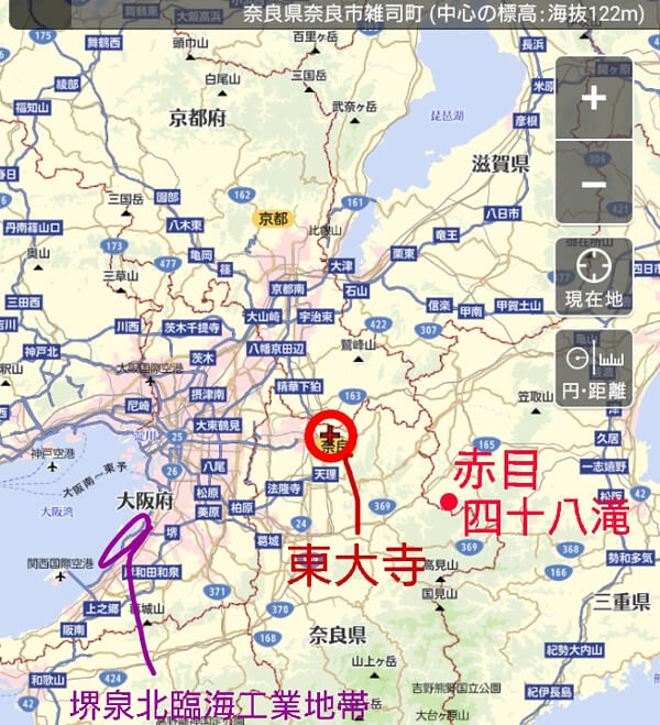 大阪の地図