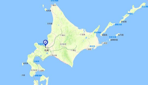 手稲山の位置図