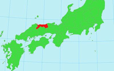 西日本の地図(鳥取)