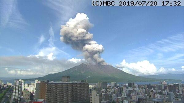 桜島のニュース写真