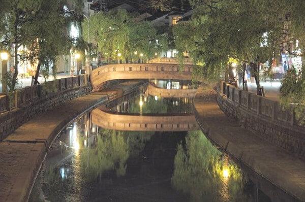 城崎温泉の太鼓橋の写真