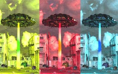 UFOのイラスト画像