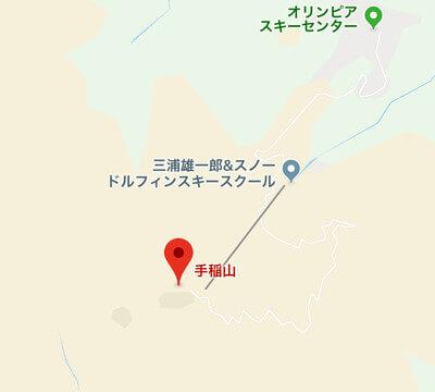 手稲山付近の地図