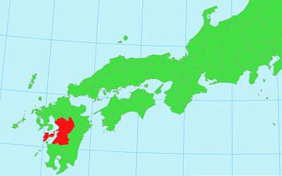 九州~西日本の地図