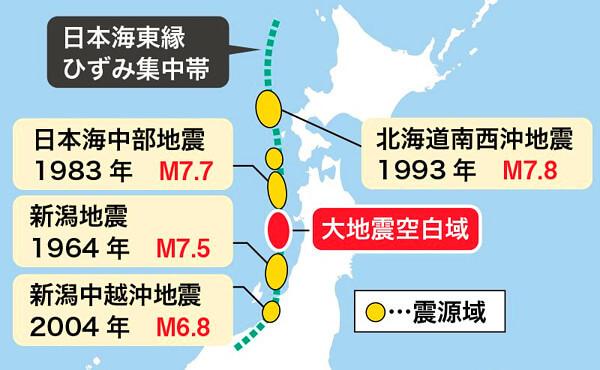 日本海東縁ひずみ集中帯の画像