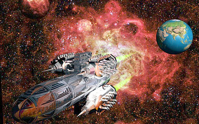 宇宙船のイメージイラスト