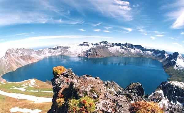 白頭山の写真