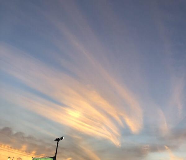 面白い形の雲の写真「火の鳥」