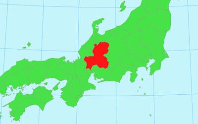 日本地図(岐阜県)