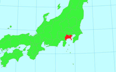 日本地図(神奈川県)