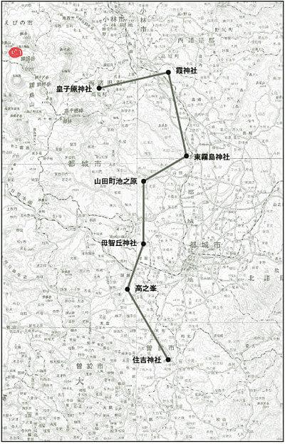 えびの高原の地図