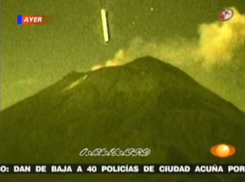 ポポカテペトル山のUFOの写真(メキシコ)