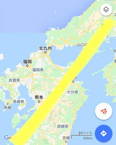 地震の起こる場所を示した地図