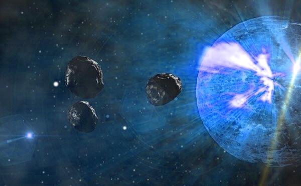 隕石落下のイラスト