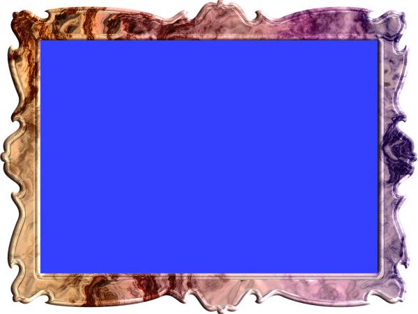 額縁(フレーム)のイラスト青色