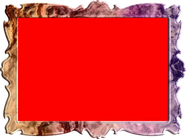 額縁(フレーム)のイラスト赤色