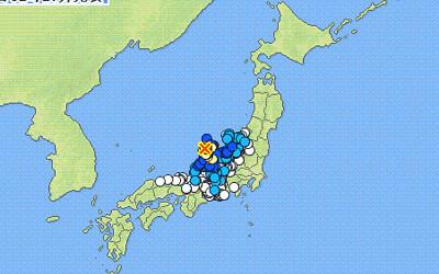 地震情報の画像